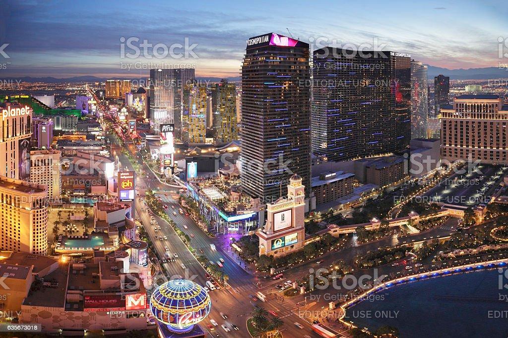 Las Vegas Strip at Night stock photo