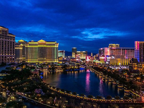 Las Vegas Strip at Sunset stock photo