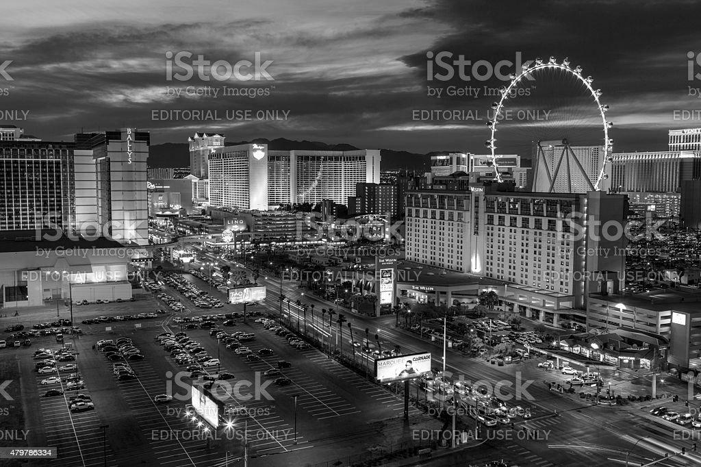 Las Vegas Strip Dusk stock photo
