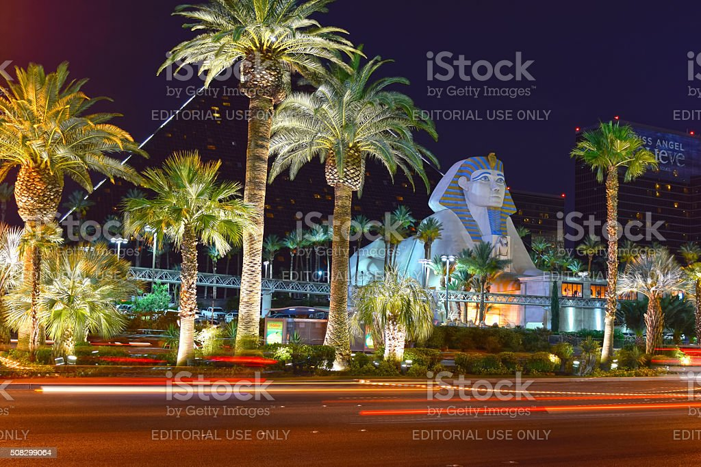 Las Vegas strip, Hotel Luxor stock photo