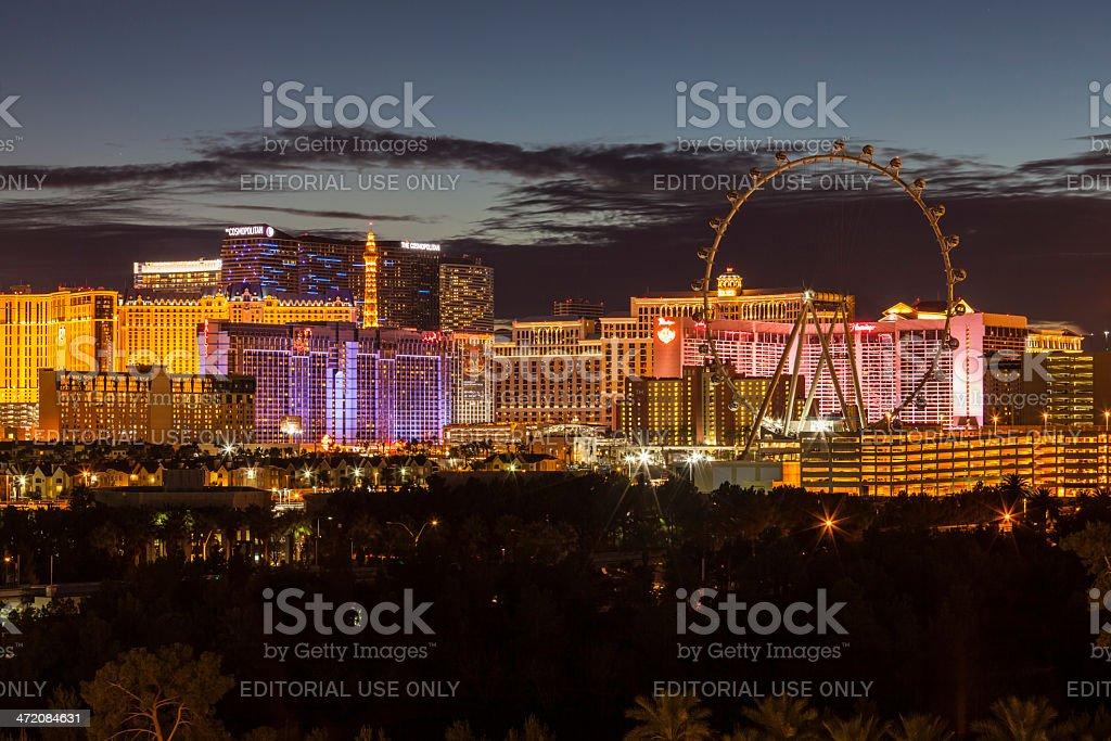Las Vegas Strip Night stock photo