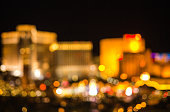 Defocused Las Vegas Strip.