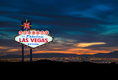 A stock photo of the World Famous Las Vegas Strip city skyline.