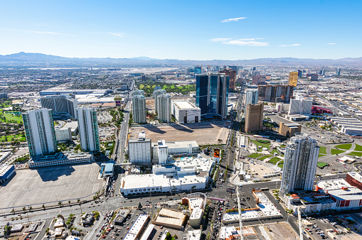 Aerial view of las Vegas Strip in the morning