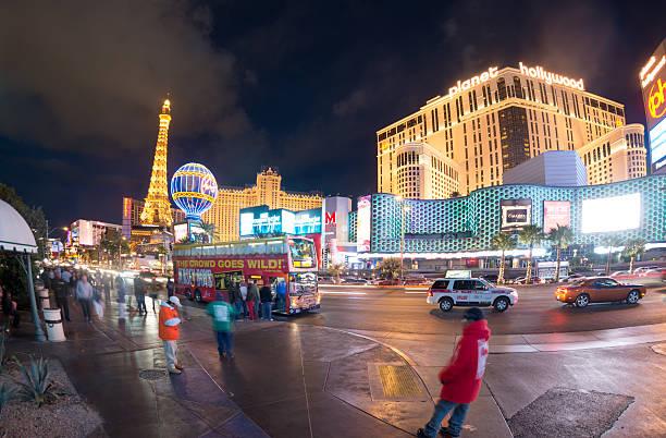 Las Vegas Strip Traffic stock photo