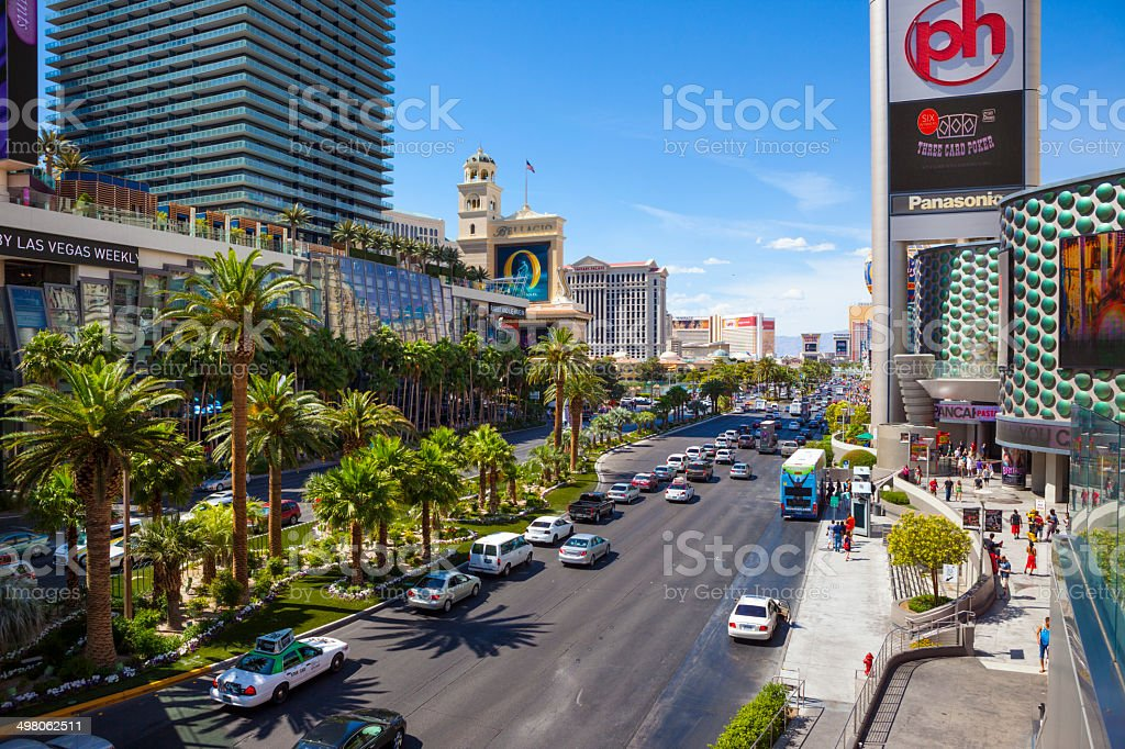 Las Vegas Strip Traffic. stock photo