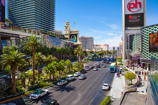 Verkehr Las Vegas Strip. – Foto