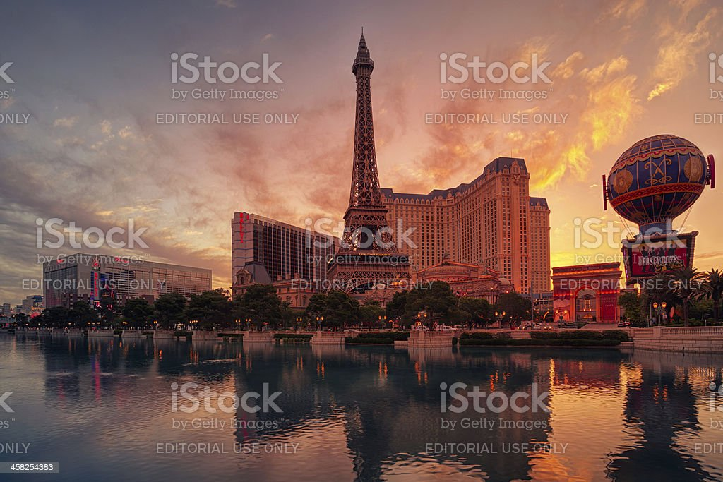 Las Vegas sunrise stock photo