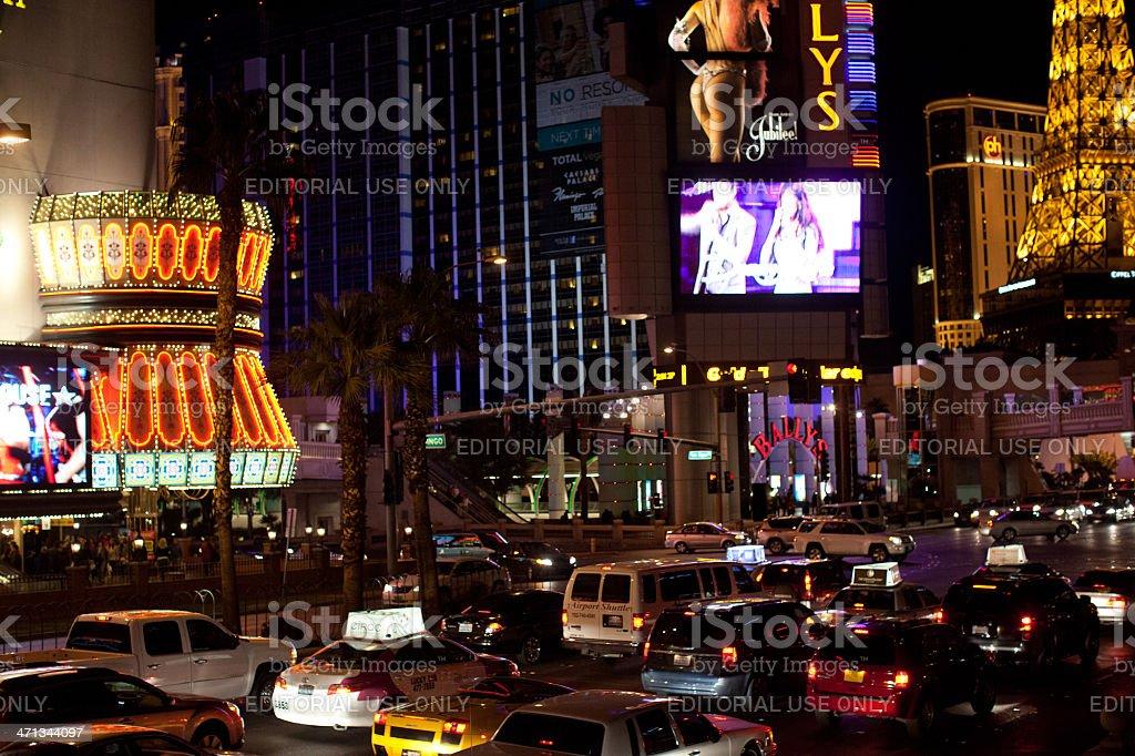 Las Vegas traffic royalty-free stock photo