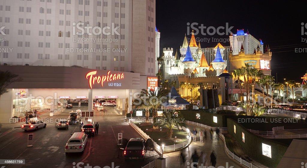 Las Vegas Tropicana and Excalibur Hotel  Casino stock photo