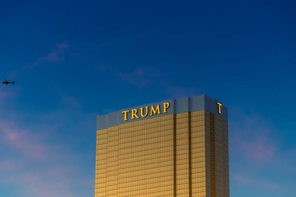 拉斯維加斯-特朗普大廈 - trump 個照片及圖片檔