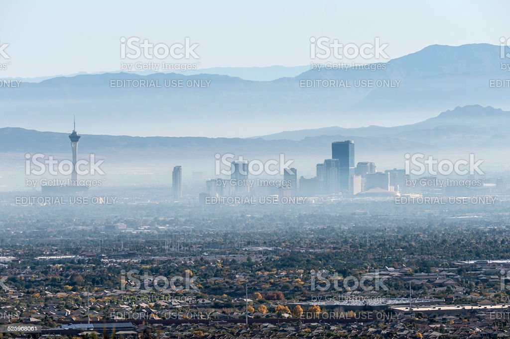 Las Vegas Valley Haze stock photo