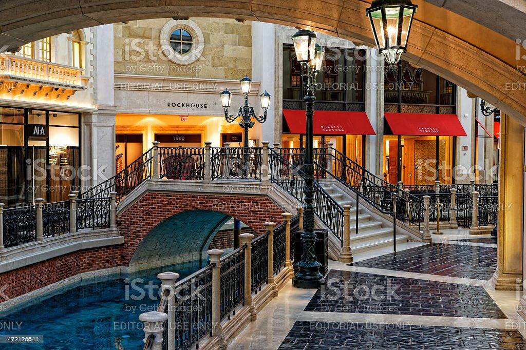 Las Vegas  Venetian Casino Indoor Canal stock photo
