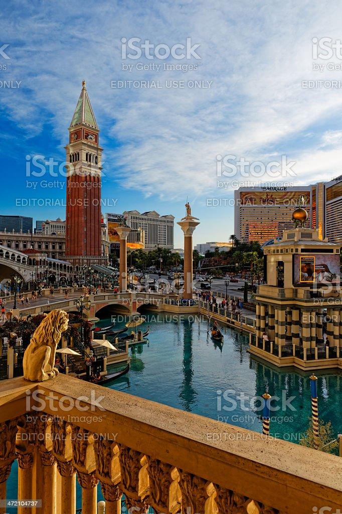 Las Vegas, Venetian Casino View from Balcony stock photo