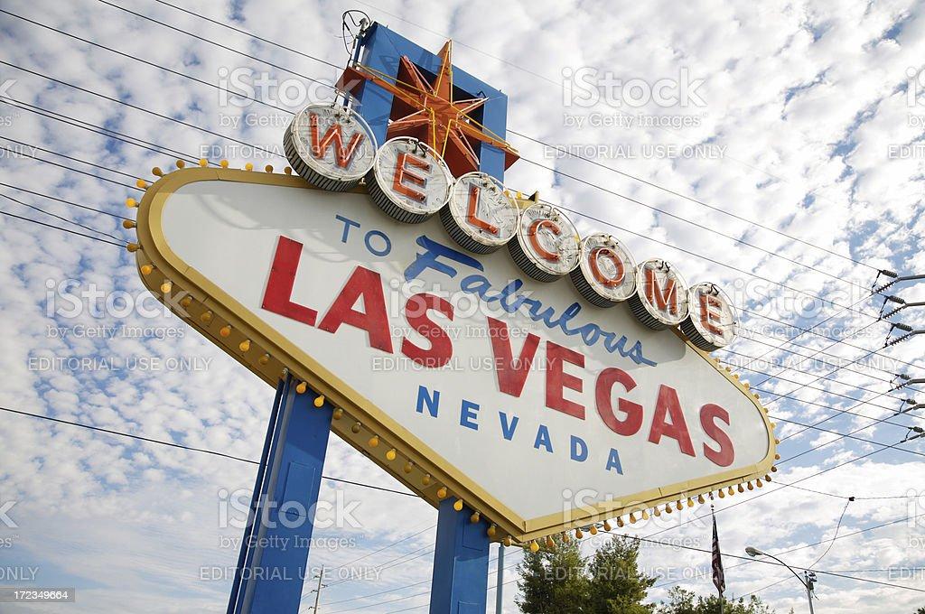 Señal de bienvenida a Las Vegas foto de stock libre de derechos