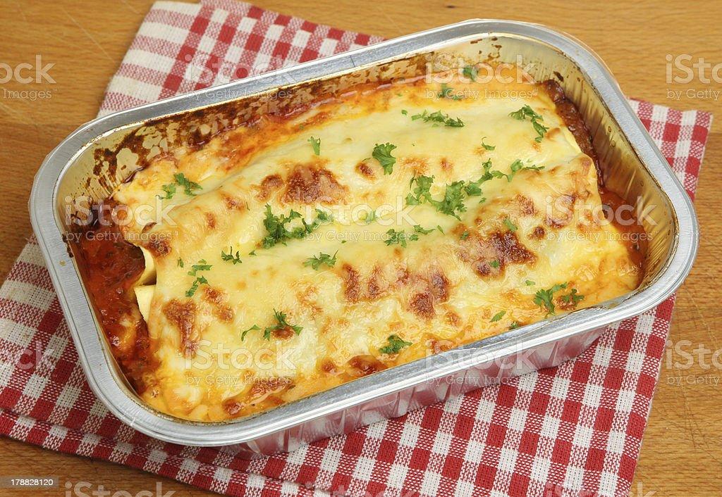 Lasagna Convenience Meal stock photo
