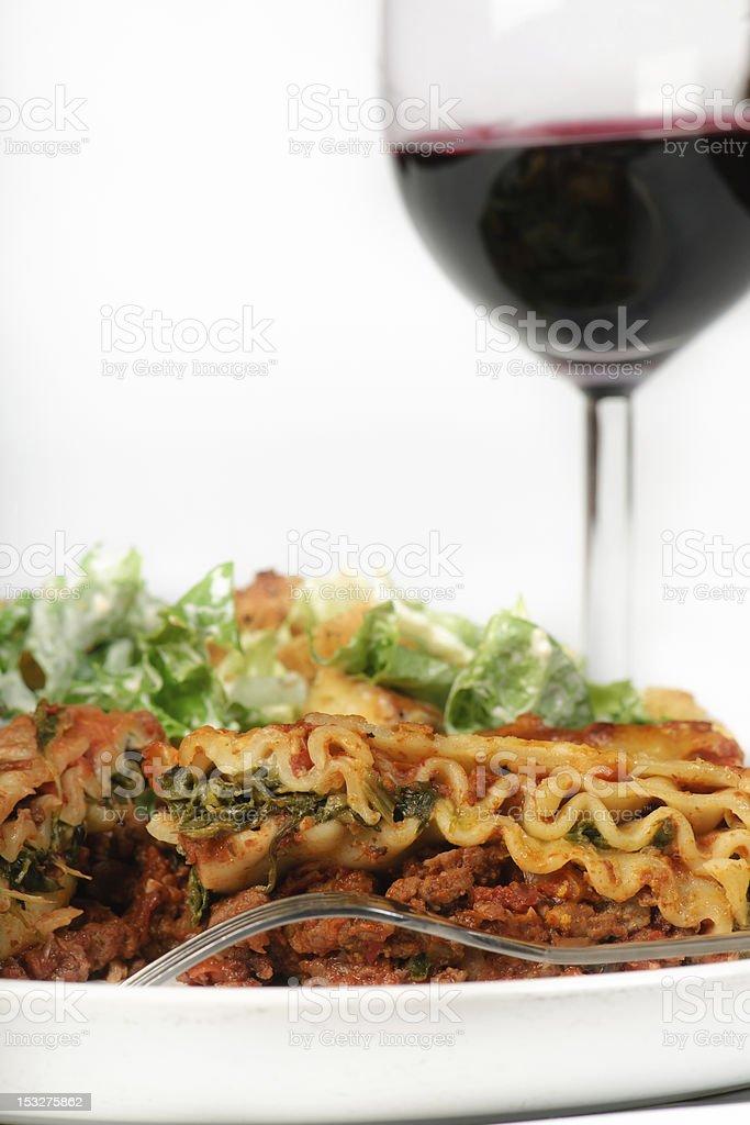 Lasagna Dinner royalty-free stock photo