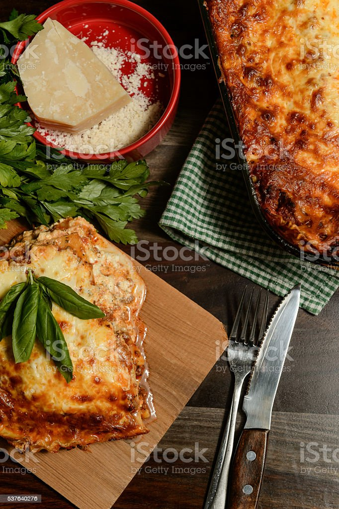 Lasagna Dinner stock photo