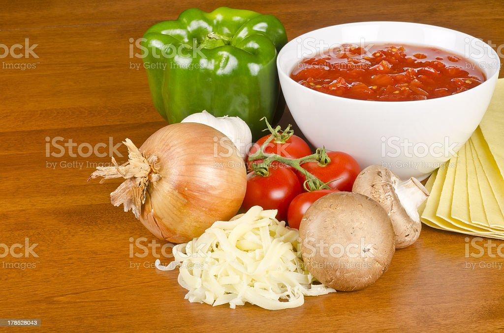 Lasagna Ingredients royalty-free stock photo