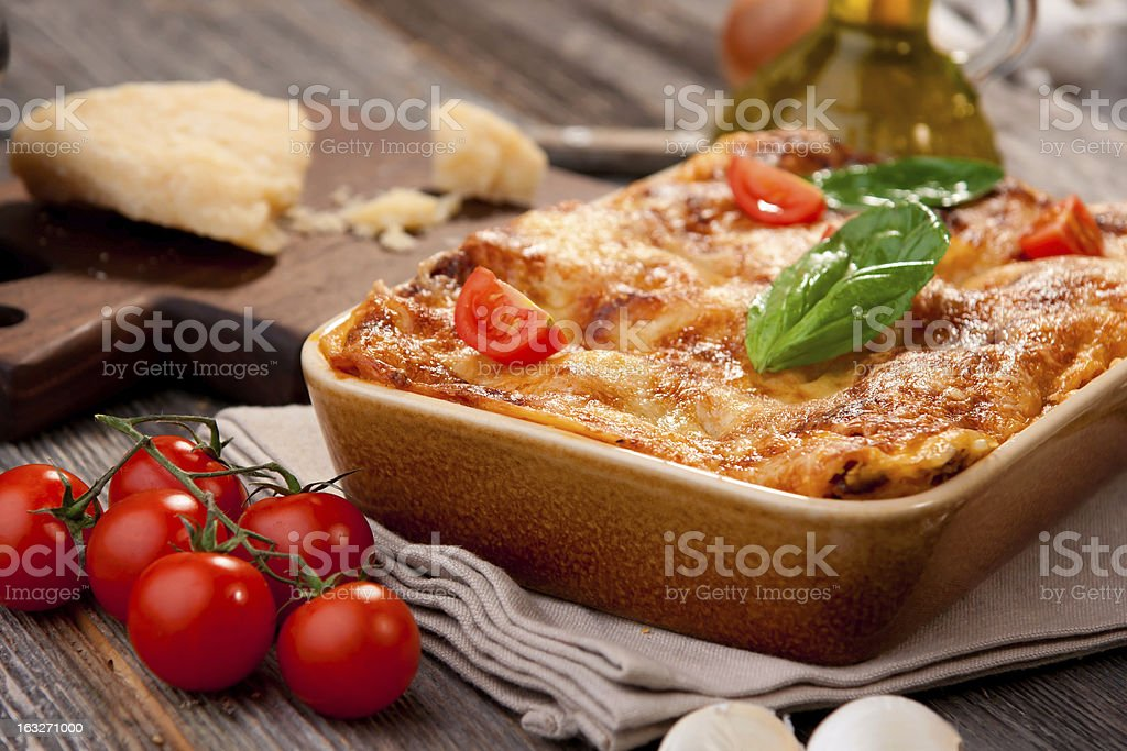 Lasagna royalty-free stock photo