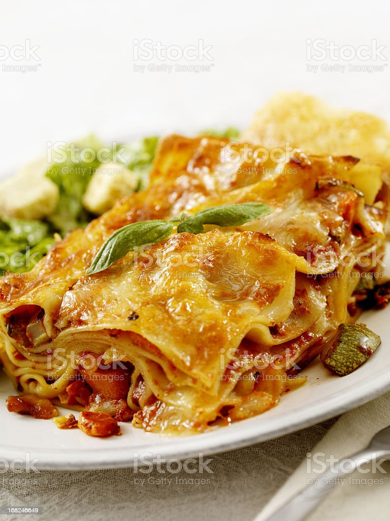 Lasagna Primavera royalty-free stock photo