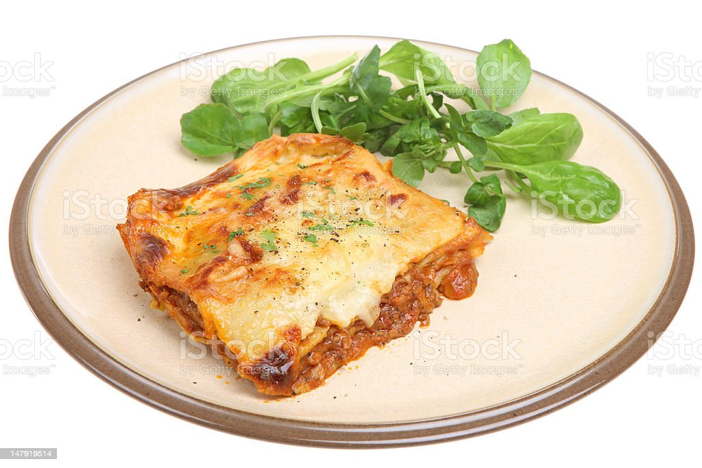 Lasagna with Beef royalty-free stock photo
