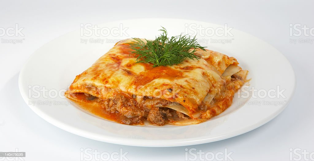 Lasagna with veal. royalty-free stock photo