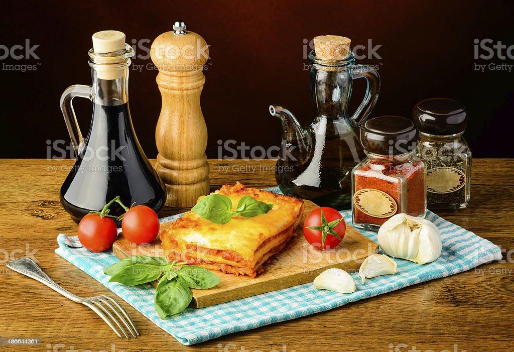 lasagne und Zutaten – Foto