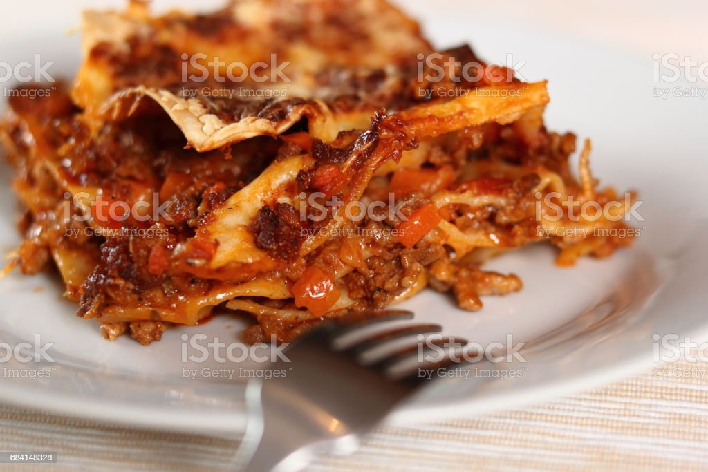 Lasagne Bolognese royaltyfri bildbanksbilder