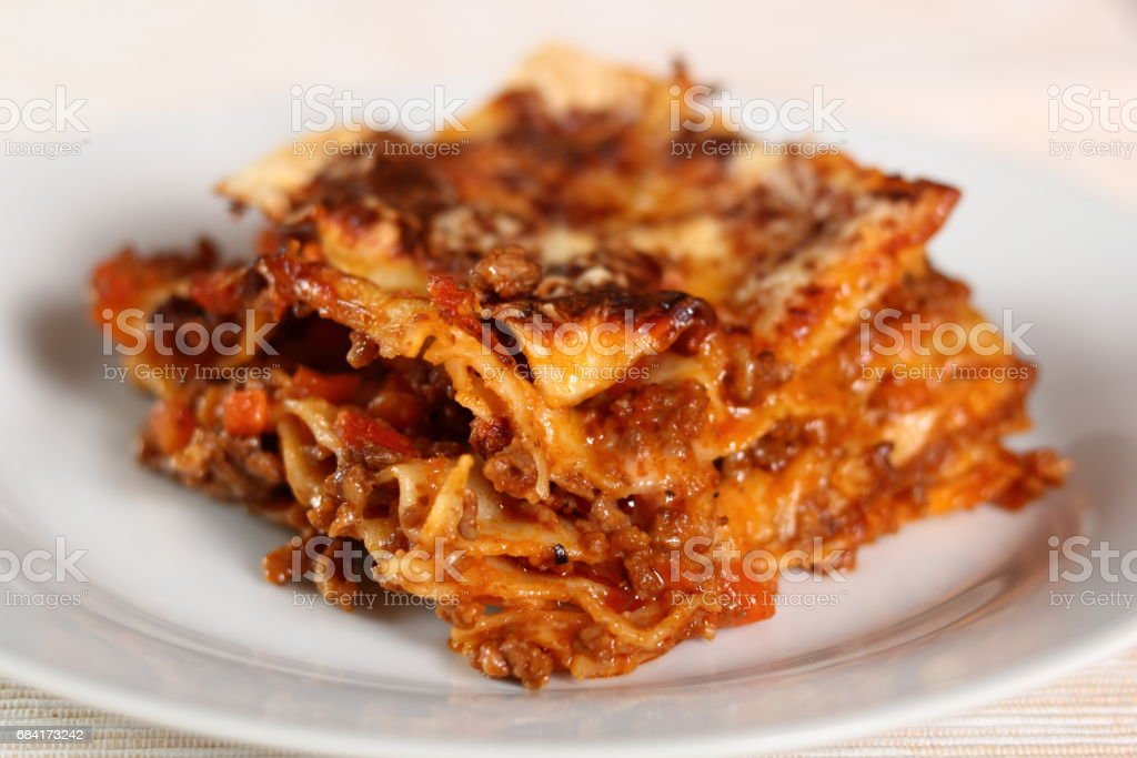 Lasagne Bolognese royalty-free stock photo
