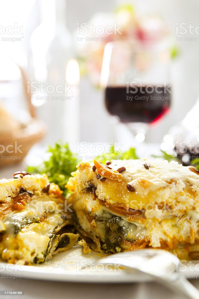Lasagne Meal stock photo