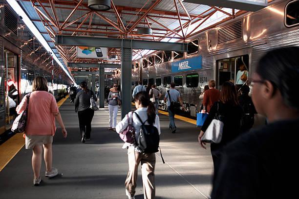 LaSalle station, Chicago, illinois stock photo