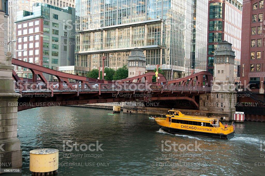 Lasalle Street Bridge royalty-free stock photo