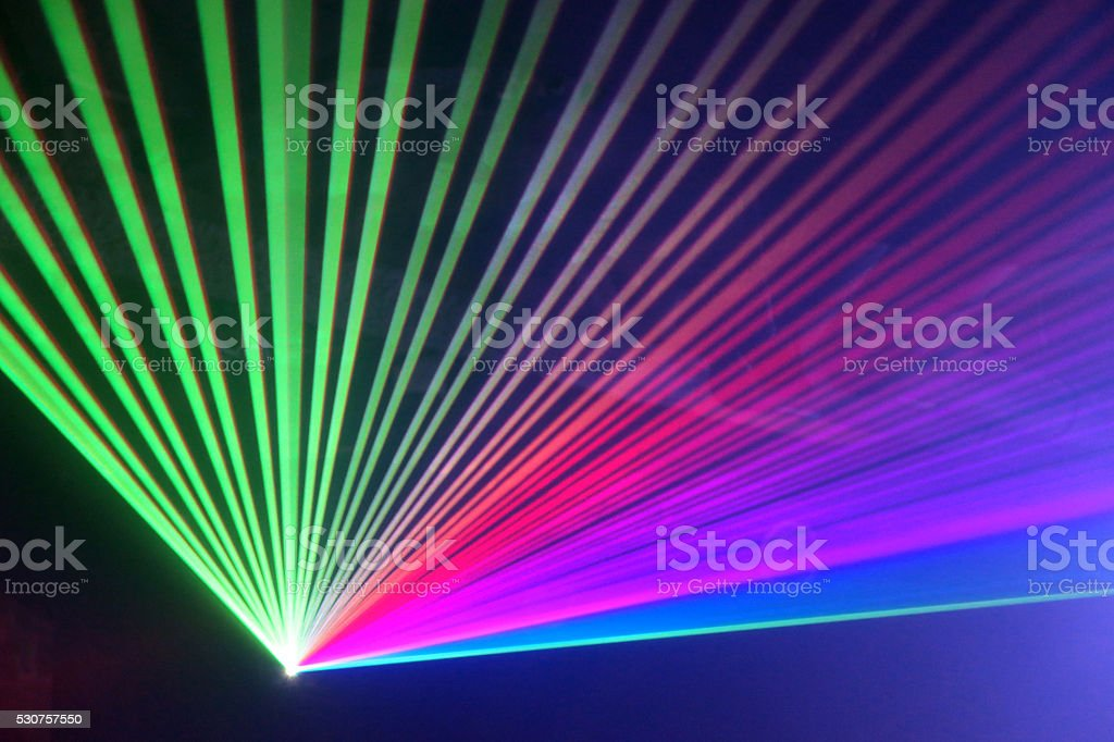 Laser beam during party, event stock photo