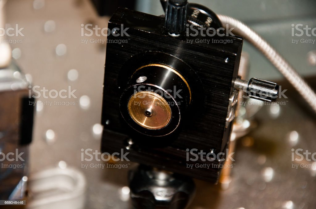 Laser Beam Exprimetal Set-up stock photo