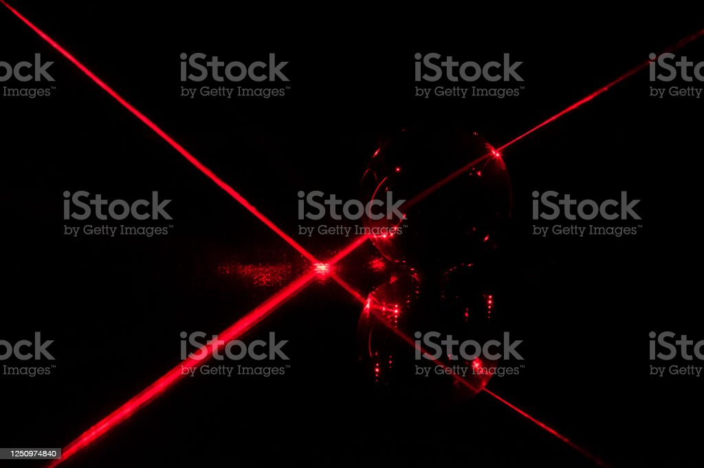 Laser beam passing through a glass ball - Royalty-free Abstract Stock Photo