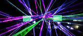 Laser beams in open air event