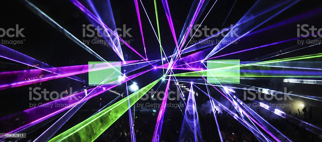 Laser beams stock photo