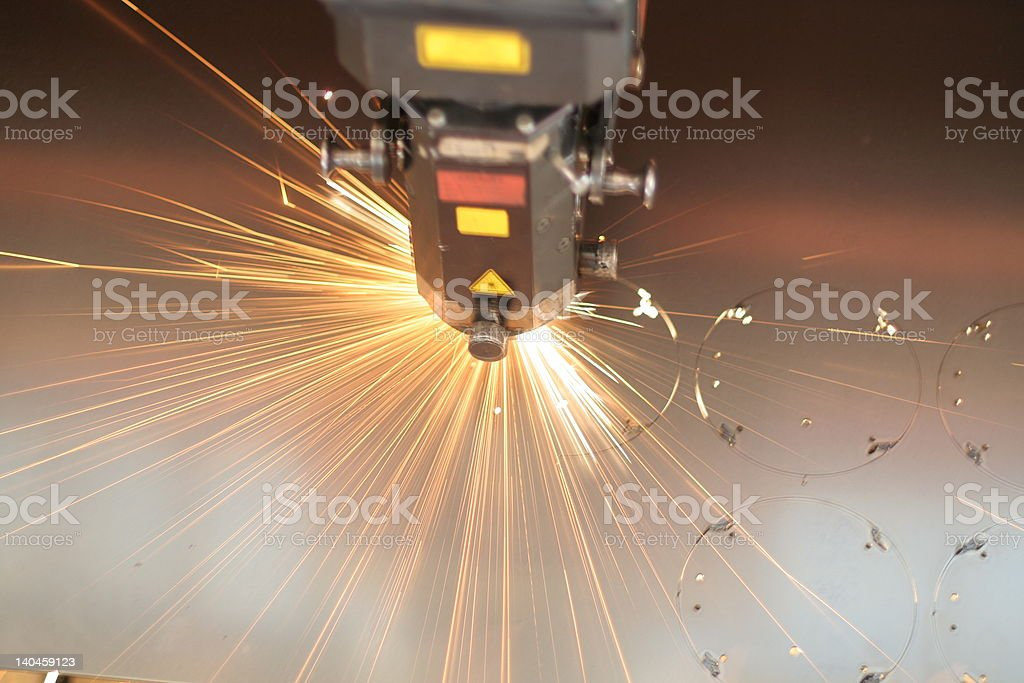 Laser close-up stock photo