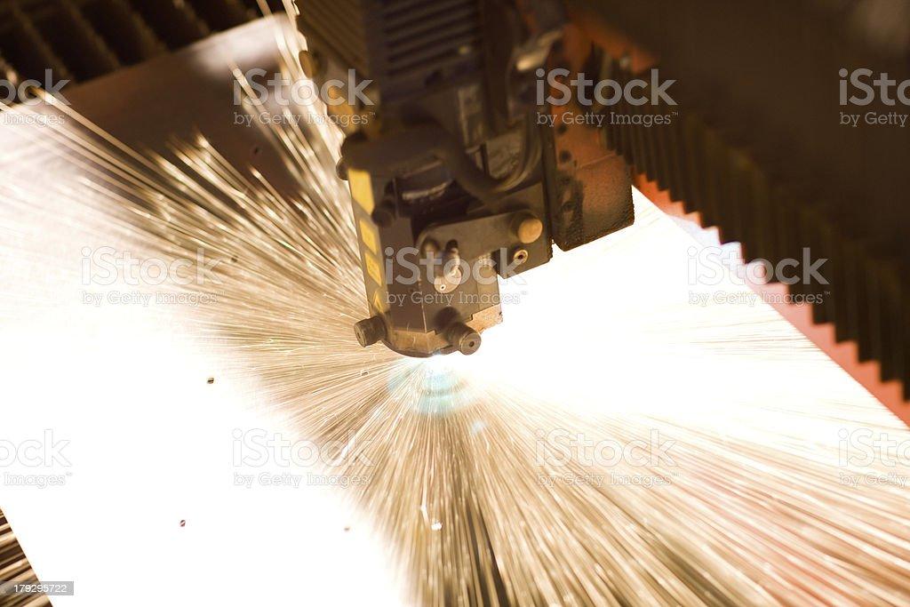 Laser close-up stock photo