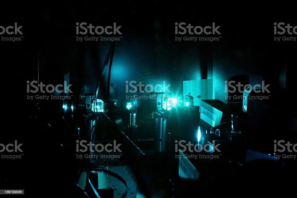 Laser construction stock photo
