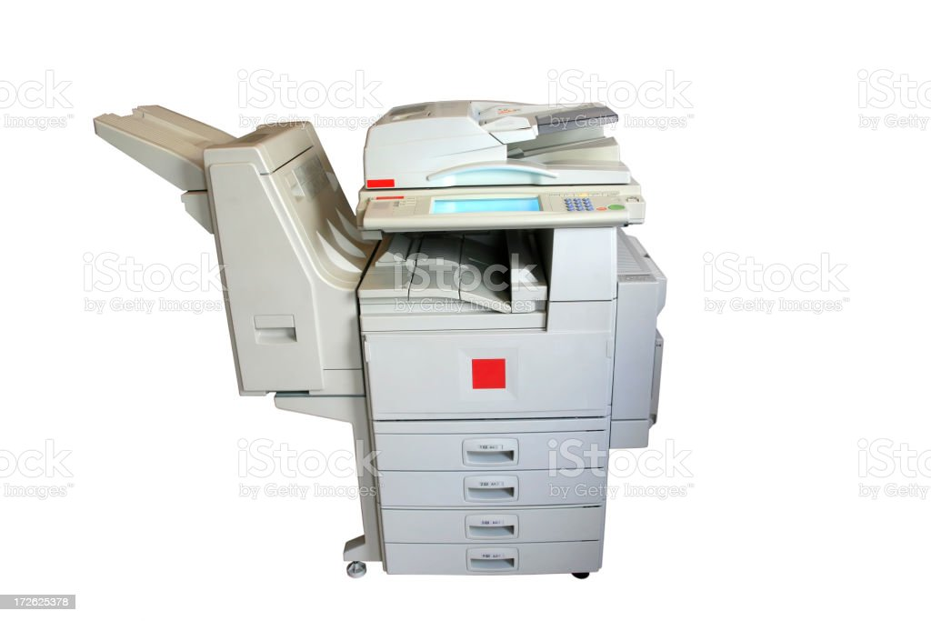 laser copier, clipping path stock photo