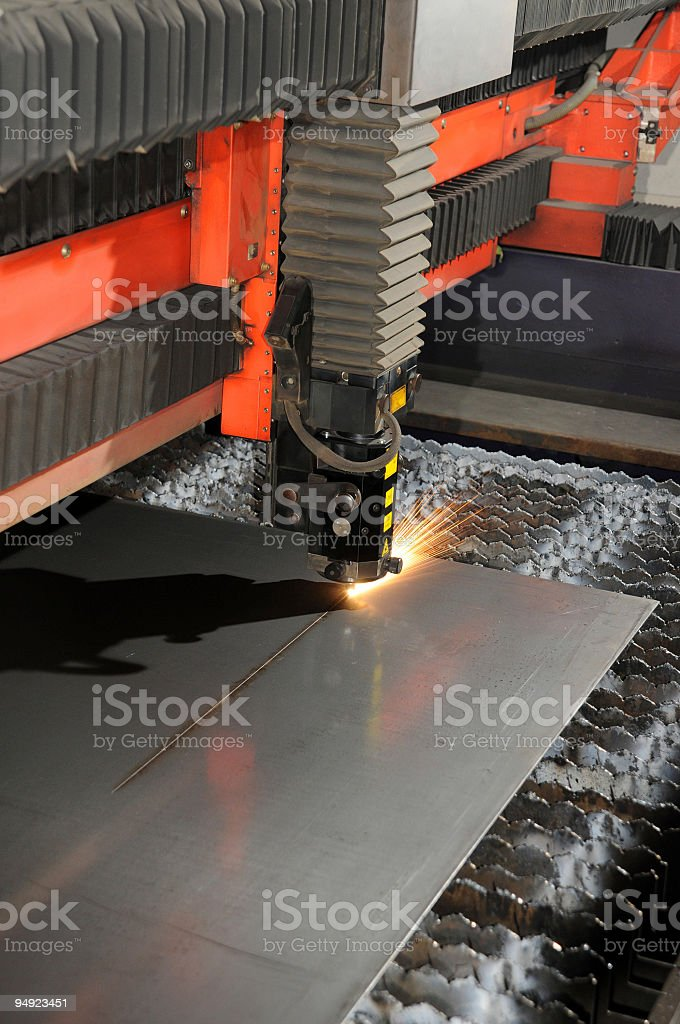 laser cutter royalty-free stock photo