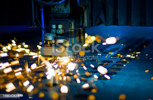 istock Laser cutting close up 159040634