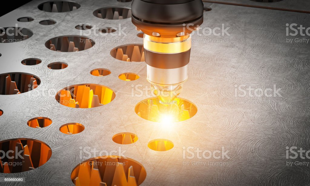 laser cutting machine stock photo