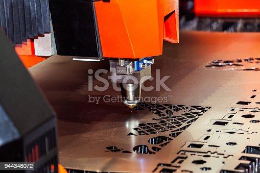 istock Laser cutting machine 944348072
