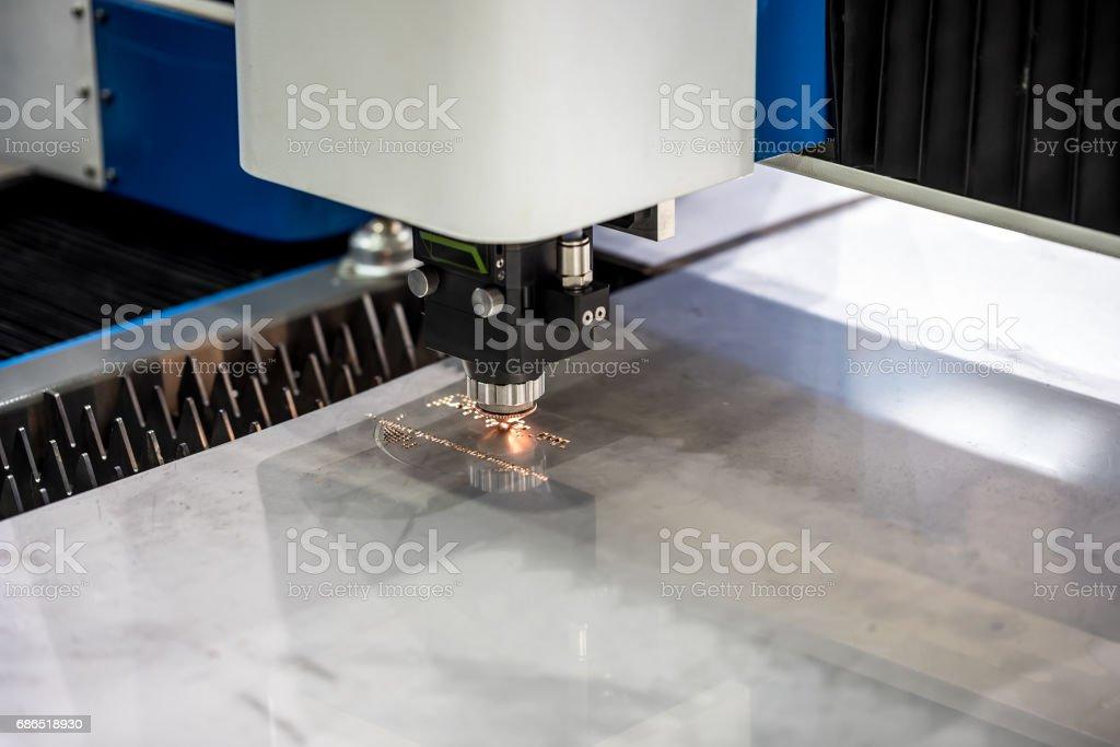 CNC Laser cutting of metal, modern industrial technology. photo libre de droits