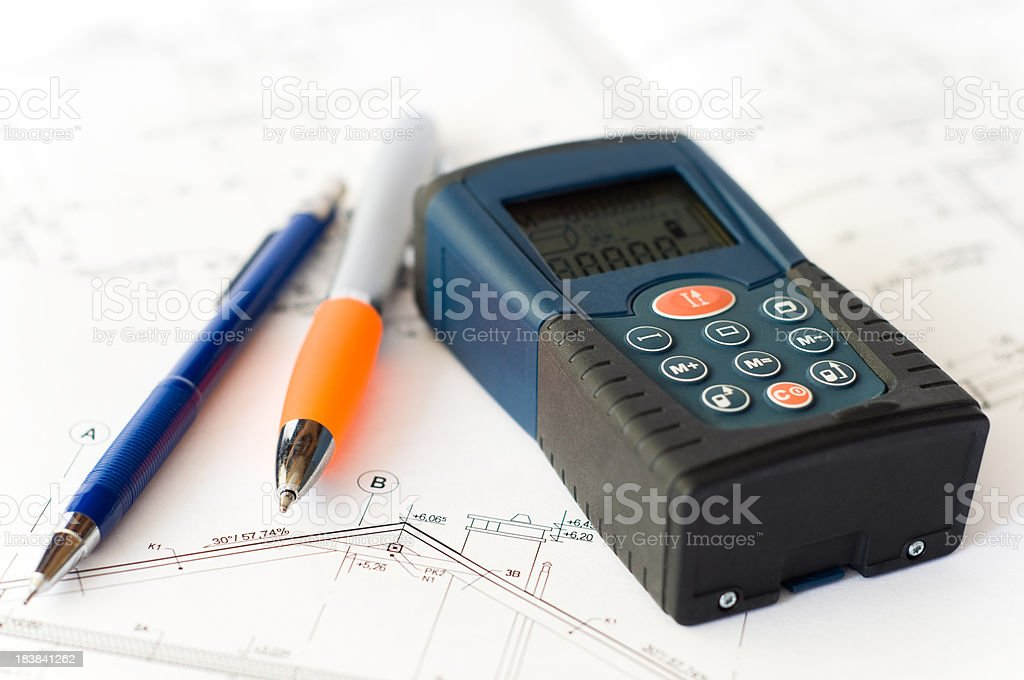 Laser distance meter royalty-free stock photo