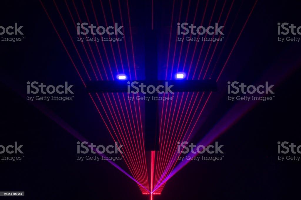 Laser Face stock photo