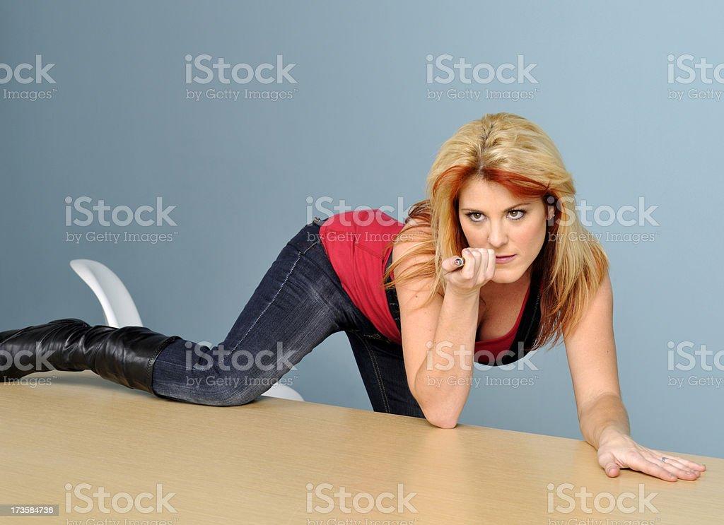 Laser Girl stock photo
